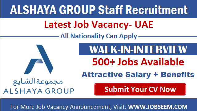 Alshaya Careers Recruitment Multiple Job Vacancy Openings