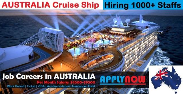 Australia Cruise Ship Job Vacancies | Urgent Staff ...