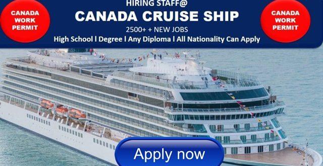 Canada Cruise Ship Job Careers Hiring Staffs Urgently 2017