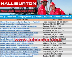 Hiring Staffs in Halliburton Company | Job Careers in US