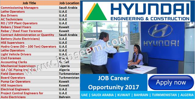 HYUNDAI E&C Company Hiring Large Number of Staffs | Hyundai Job