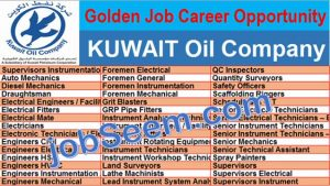 Job Careers in KUWAIT Oil Company Project | KOC is Hiring