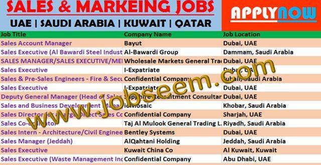 Sanitary Ware Jobs In Saudi Arabia