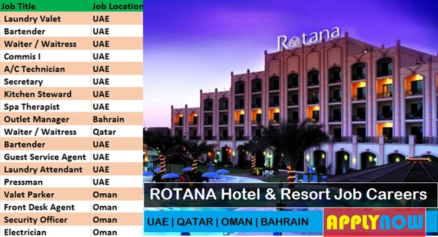 ROTANA CAREERS LATEST HOTEL JOB VACANCIES -UAE-KSA-QATAR-KUWAIT
