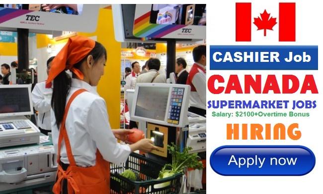 Supermarket CASHIER Jobs in CANADA | Job Vacancies in