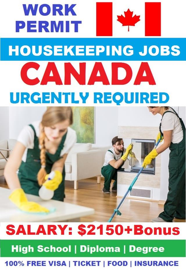 Exciting Housekeeping Jobs In Canada With Work Permit 2020