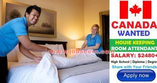 House Keeping Room Attendance Jobs in CANADA 2018 Hiring Urgently Apply Now