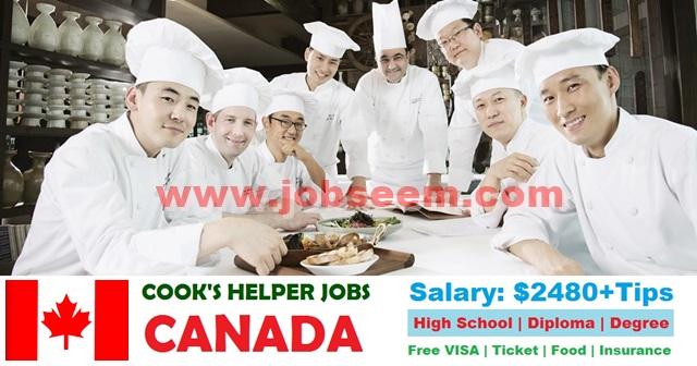 cook 39 s helper job in canada 2018 kitchen helper hiring