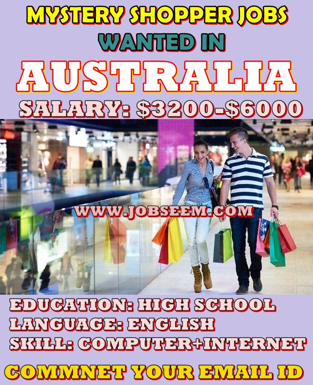 mystery shopper job careers wanted in australia 2018 job careers. Black Bedroom Furniture Sets. Home Design Ideas
