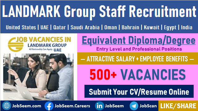 Multiple Job Vacancies at LANDMARK Group LandMark Job Careers