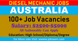 100+ Diesel Mechanic Jobs in Australia | Free VISA Free Ticket 2018