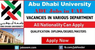 Abu Dhabi University Jobs in UAE Career Recruitment 2018 Hiring Facullty Staffs