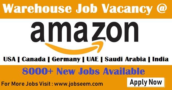 Amazon Careers | Vacancy Openings for Amazon Warehouse Jobs