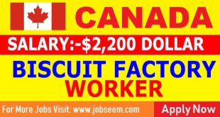 Biscuit Factory Jobs Biscuit Packing Jobs in Canada for Freshers 2018 apply now