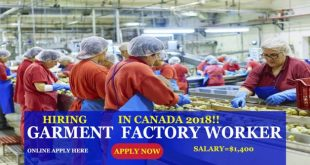 Cloth Factory Jobs in Canada | Garment Industry Jobs 2018 | Hiring Now