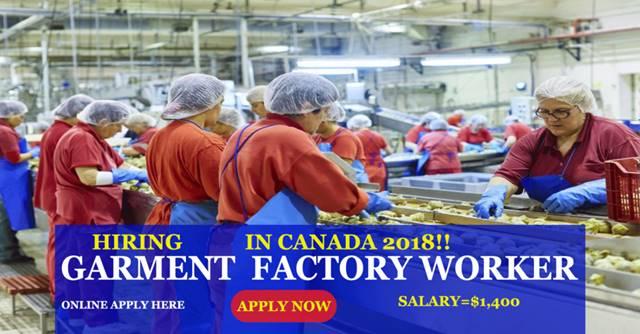 Cloth Factory Jobs in Canada | Garment Industry Jobs 2018