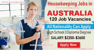 Domestic House Cleaning and Housekeeping Jobs in Australia 2018 Apply Now