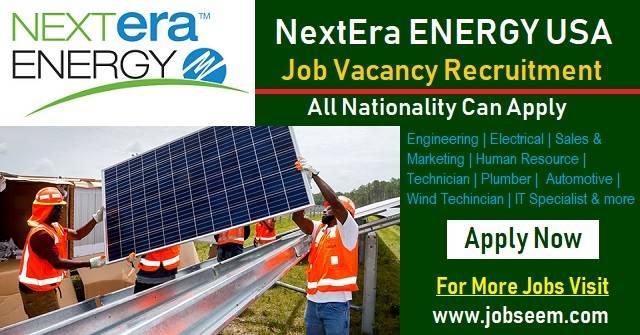 Exciting Job Careers at NextEra Energy USA | Staff Recruitment