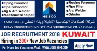 HEISCO Job Careers Recruitment in Kuwait 2018