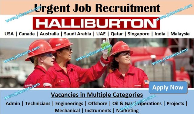 Halliburton Jobs Recruitment and Openings 2020. Apply Online Latest Career Vacancy Openings for Entry Level and Freshers. in USA, India, UAE, Qatar, Canada