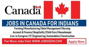 Jobs in Canada for Indians Urgent Recruitment 2018