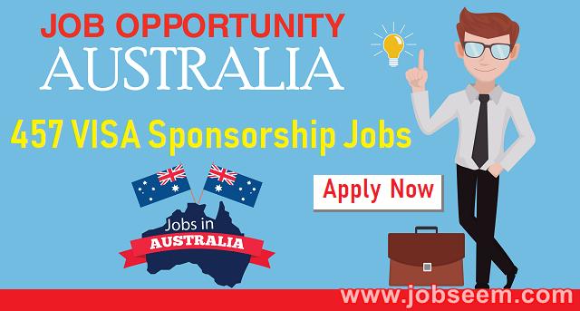 457 sponsored jobs in australia