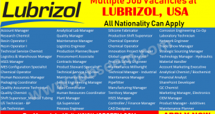 Lubrizol Jobs Careers and Staff Recruitment in USA 2018