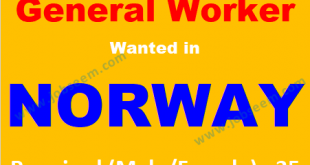 Multiple Jobs in Norway for Foreigners Hiring Staffs 2018