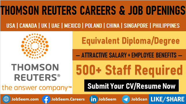 Thomson Reuters Careers Latest Job Vacancy Openings at Thomson Reuters