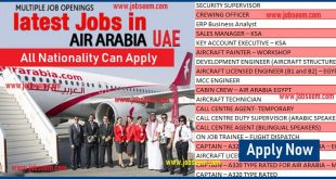 Air Arabia Career Staff Recruitment at Air Arabia UAE