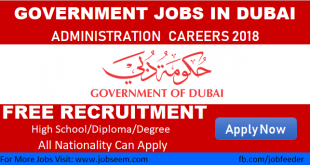 Government Jobs in Dubai UAE Administration Jobs in Dubai 2018
