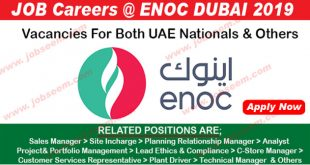 ENOC Job Vacancies in Dubai 2019 Latest ENOC Job Careers Recruiting Staffs Urgently 2019 ENOC Dubai