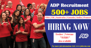 ADP Careers Hiring Recruiting ADP Urgently in Multiple Job Vacancies for Fresher and Veterans