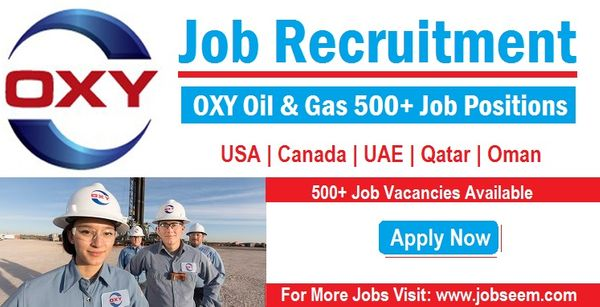 OXY Careers Recruitment New Oil and Gas Jobs Vacancy Openings