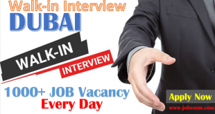 Walk In Interview DUBAI Jobs for Freshers Today and Tomorrow 2020