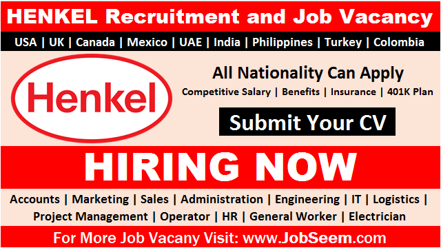 Henkel Careers Job Vacancy Openings in Multiple Locations