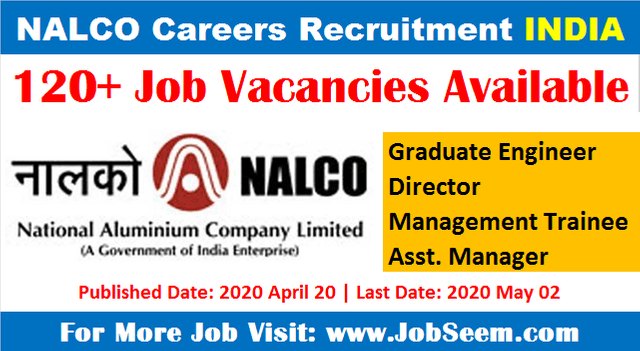 NALCO Careers Recruitment Apply Online for Latest Job Vacancies 2020