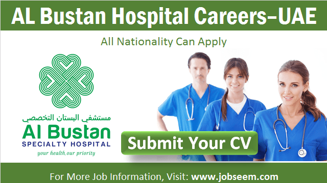 Al Bustan Hospital Careers in Abu Dhabi, UAE