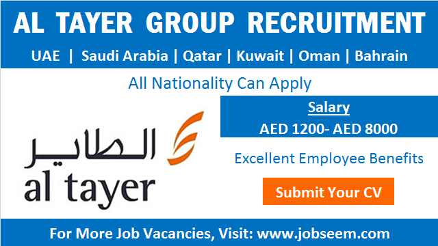 Al Tayer Group Careers Hiring with Walk in Interview Job Vacancies and Recruitment