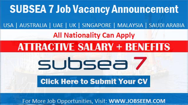 Subsea 7 Job Vacancies Offshore Careers Recruitment