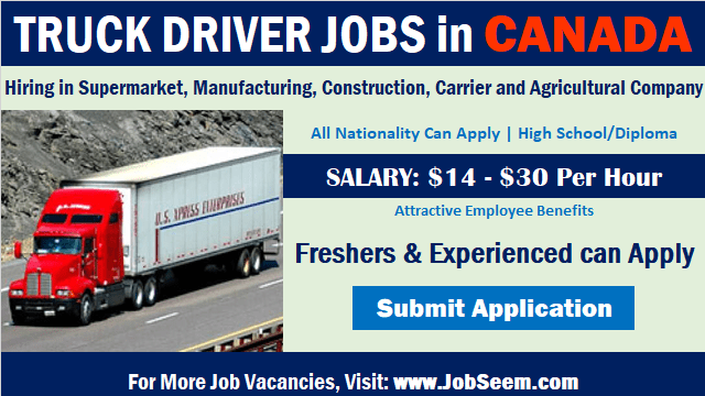 Truck Driver Jobs in Canada Driving Career Openings