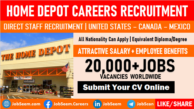 Home Depot Careers and Job Vacancies Staff Hiring in USA, Canada, Mexico