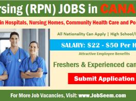 Nursing Jobs in Canada Registered Practical Nurse- RPN Careers Vacancy Openings