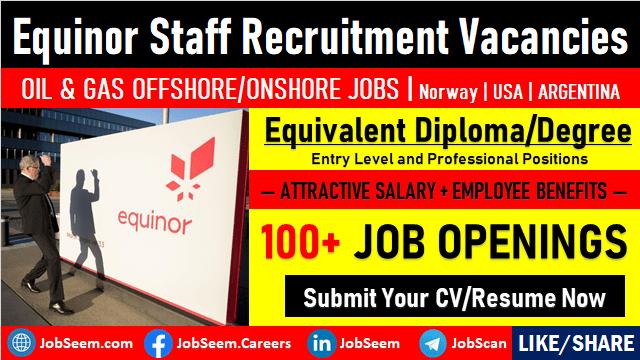 Equinor Careers & Job Vacancies Direct Staff Recruitment