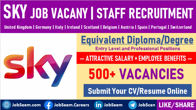 Sky Careers and Job Vacancy Recruitment UK SkyGroup Online Job Portal