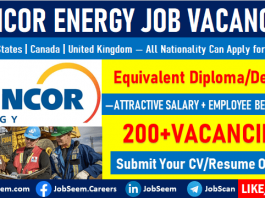 Suncor Energy Jobs and Careers Vacancy Openings Worldwide Employment Opportunities
