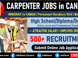 Carpenter Job Vacancies in Canada for Foreigners Work Permit Visa