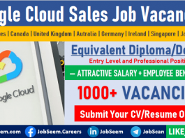 Google Cloud Sales Jobs Opening, Google Careers Recruitment and Staff Hiring