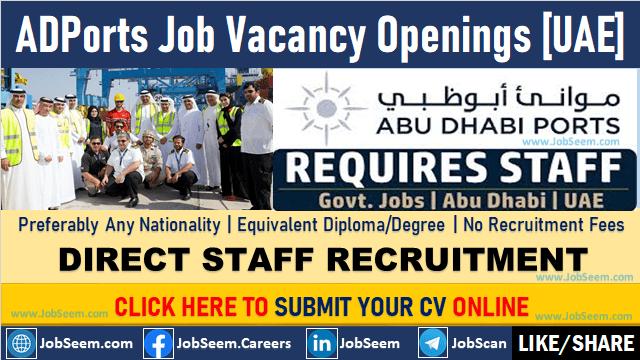 ADPorts Careers Opening and Staff Recruitment, Abu Dhabi Ports Job Vacancies in UAE