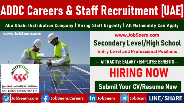 Abu Dhabi Distribution Company ADDC Careers and Job Vacancies